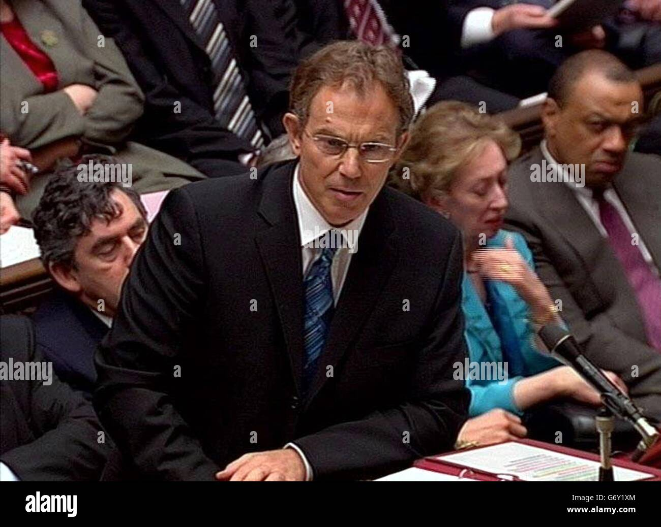 Tony Blair 'Prime Minister's Question Time' - Stock Image