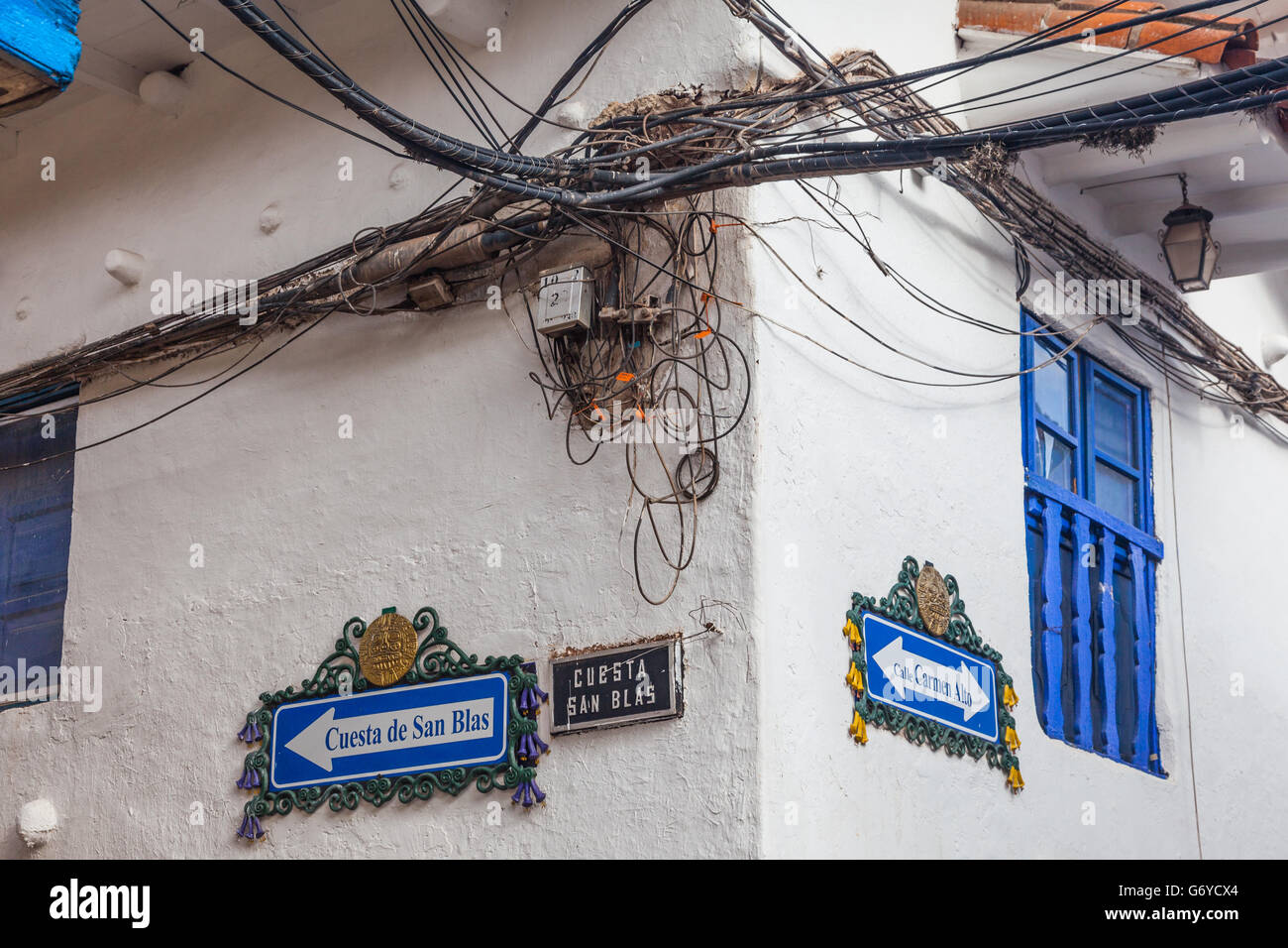 hazardous electrical wiring installation in cusco peru stock photo rh alamy com electrical wiring installation materials electrical wiring installation swp