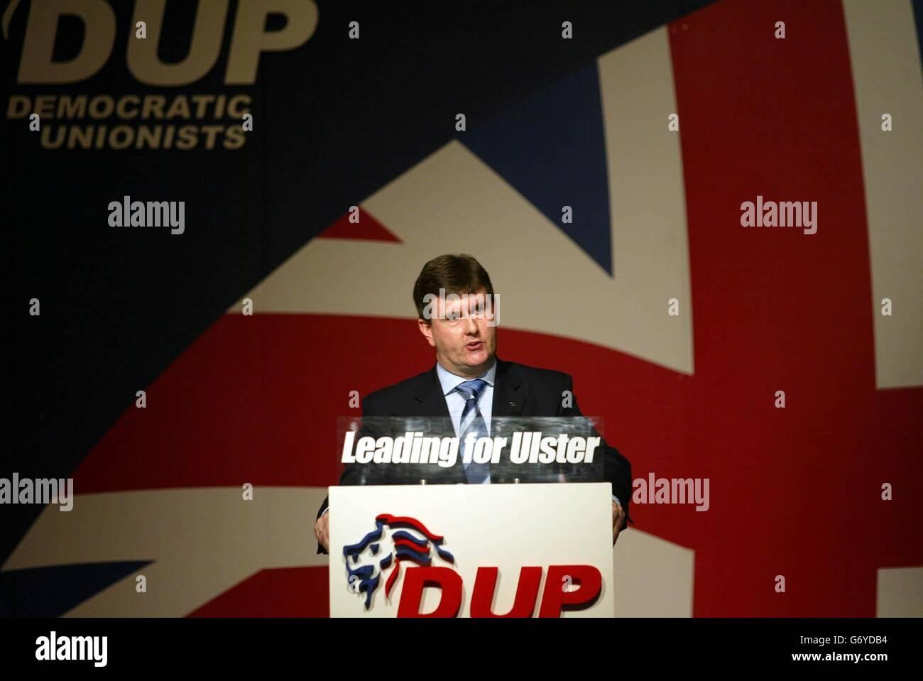 Democratic Unionist Party AGM - Stock Image