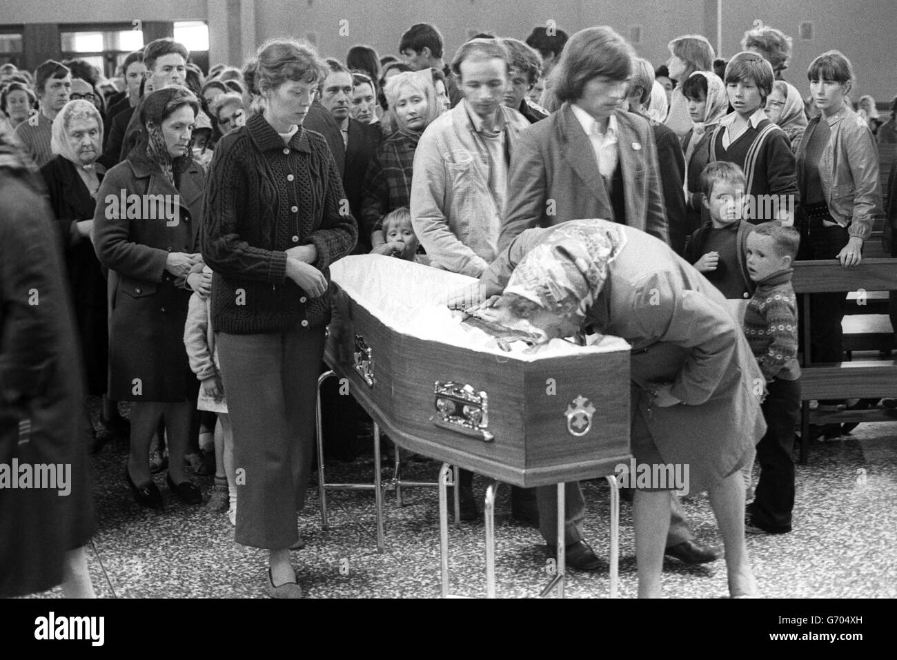 Crime - Ballymurphy Massacre - Father Hugh Mullan - Corpus Christi Roman Catholic Church, Belfast - Stock Image