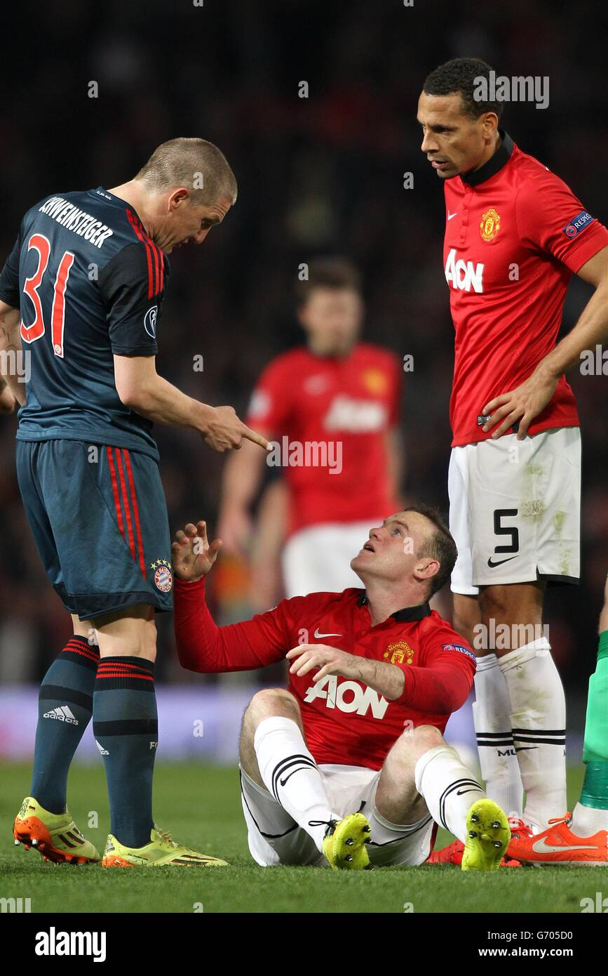Soccer - UEFA Champions League - Quarter Final - First Leg - Manchester United v Bayern Munich - Old Trafford Stock Photo