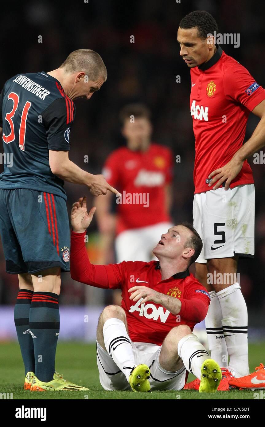 Soccer - UEFA Champions League - Quarter Final - First Leg - Manchester United v Bayern Munich - Old Trafford - Stock Image