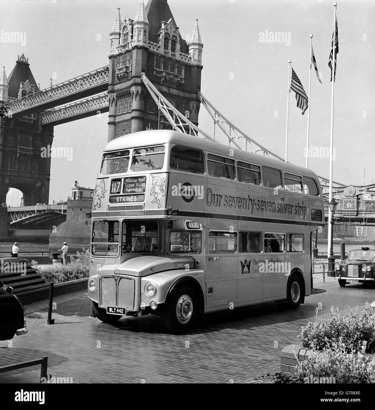 British Transport - Road - Buses - London - 1976 - Stock Image