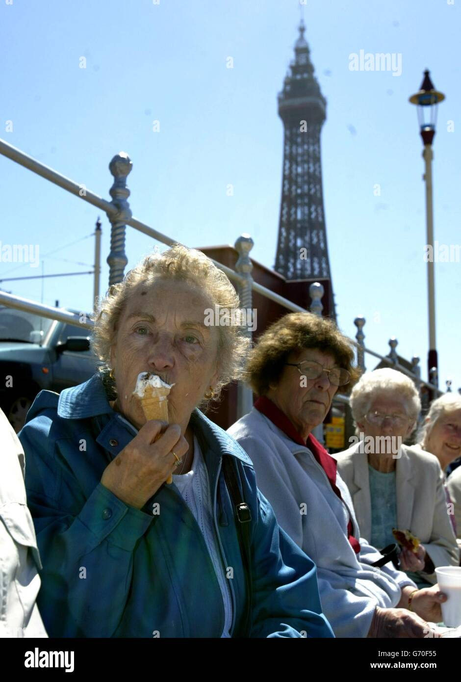 Blackpool Pensioners Protest - Stock Image