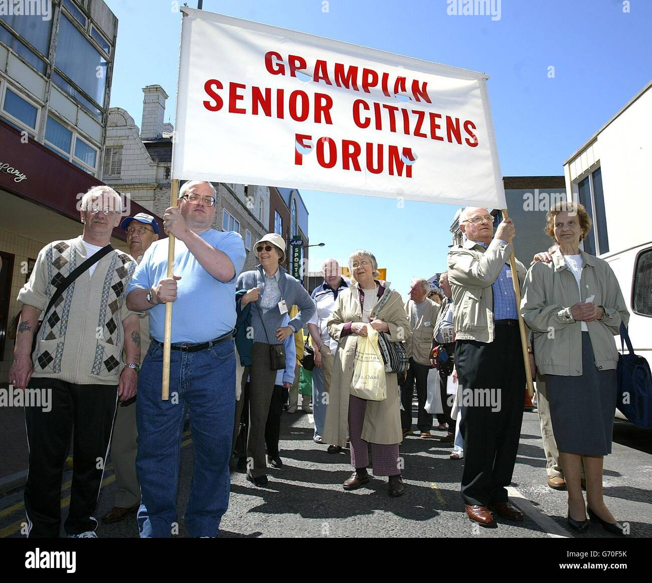 Blackpool Pensioners Protest Stock Photo
