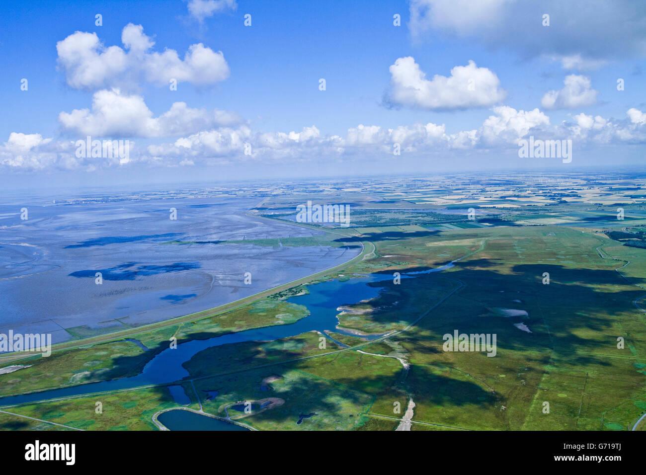 Meldorf bay, Dithmarschen, Schleswig-Holstein, Germany / Meldorfer Bucht - Stock Image