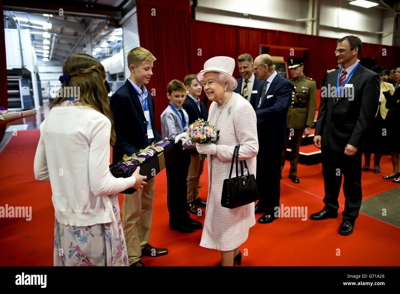 Uk greetings ltd stock photos uk greetings ltd stock images alamy the queen and duke of edinburgh visit wales stock image m4hsunfo