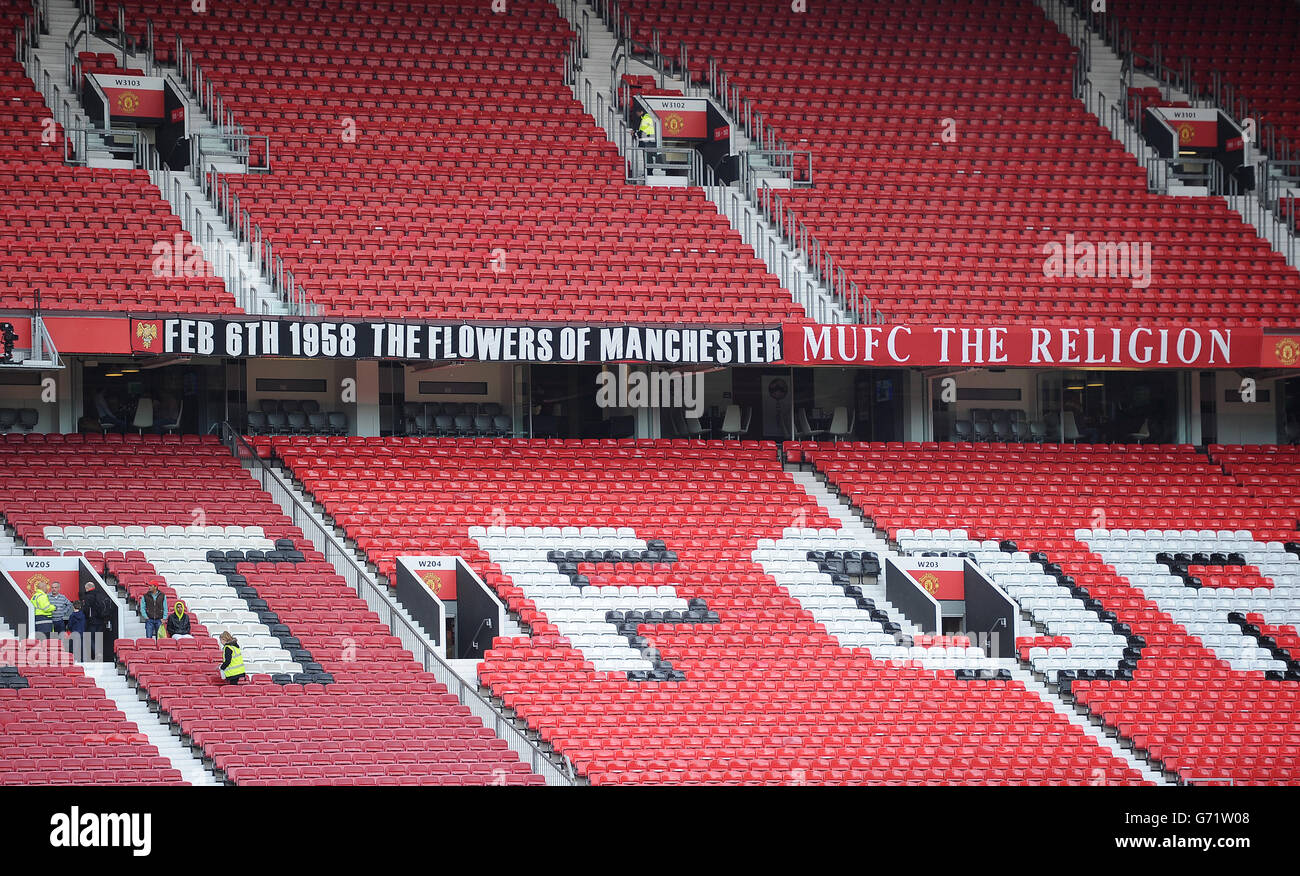 Soccer - Barclays Premier League - Manchester United v Norwich City - Old Trafford - Stock Image