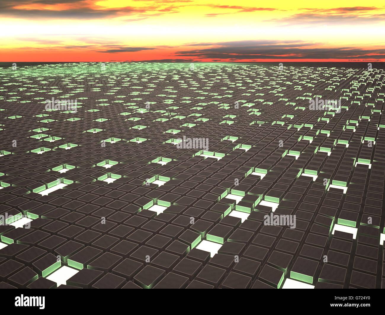 Green energy concept, illustration - Stock Image