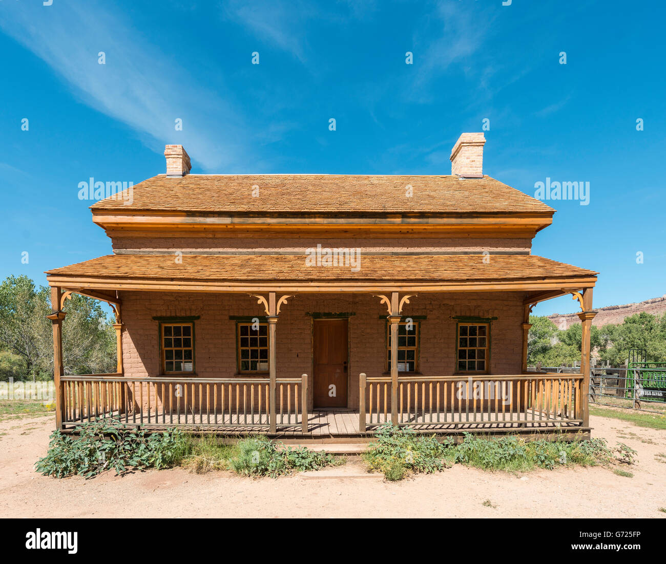 Old saloon, Ghost Town, Grafton near Springdale, Utah, United States - Stock Image