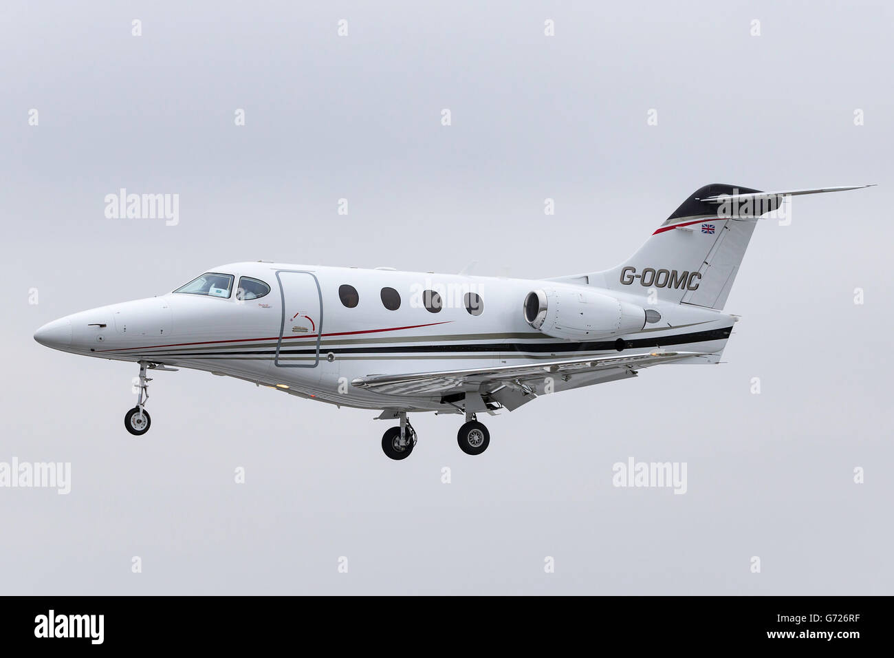 Raytheon 390 (Beechcraft premier 1) light business jet aircraft G-OOMC - Stock Image