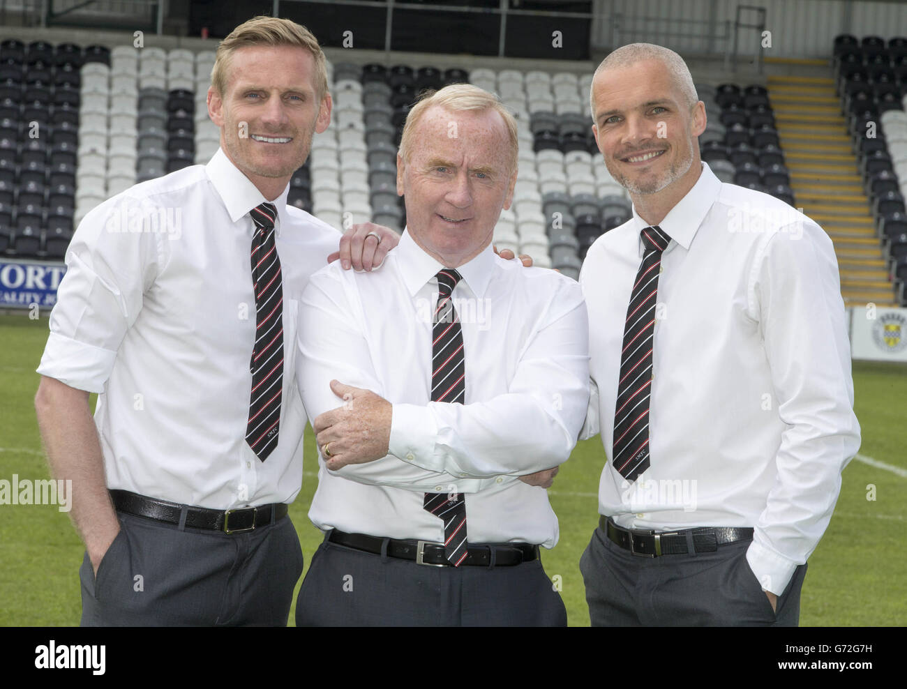 Soccer - St Mirren Press Conference - Tommy Craig Unveiling - St Mirren Park - Stock Image