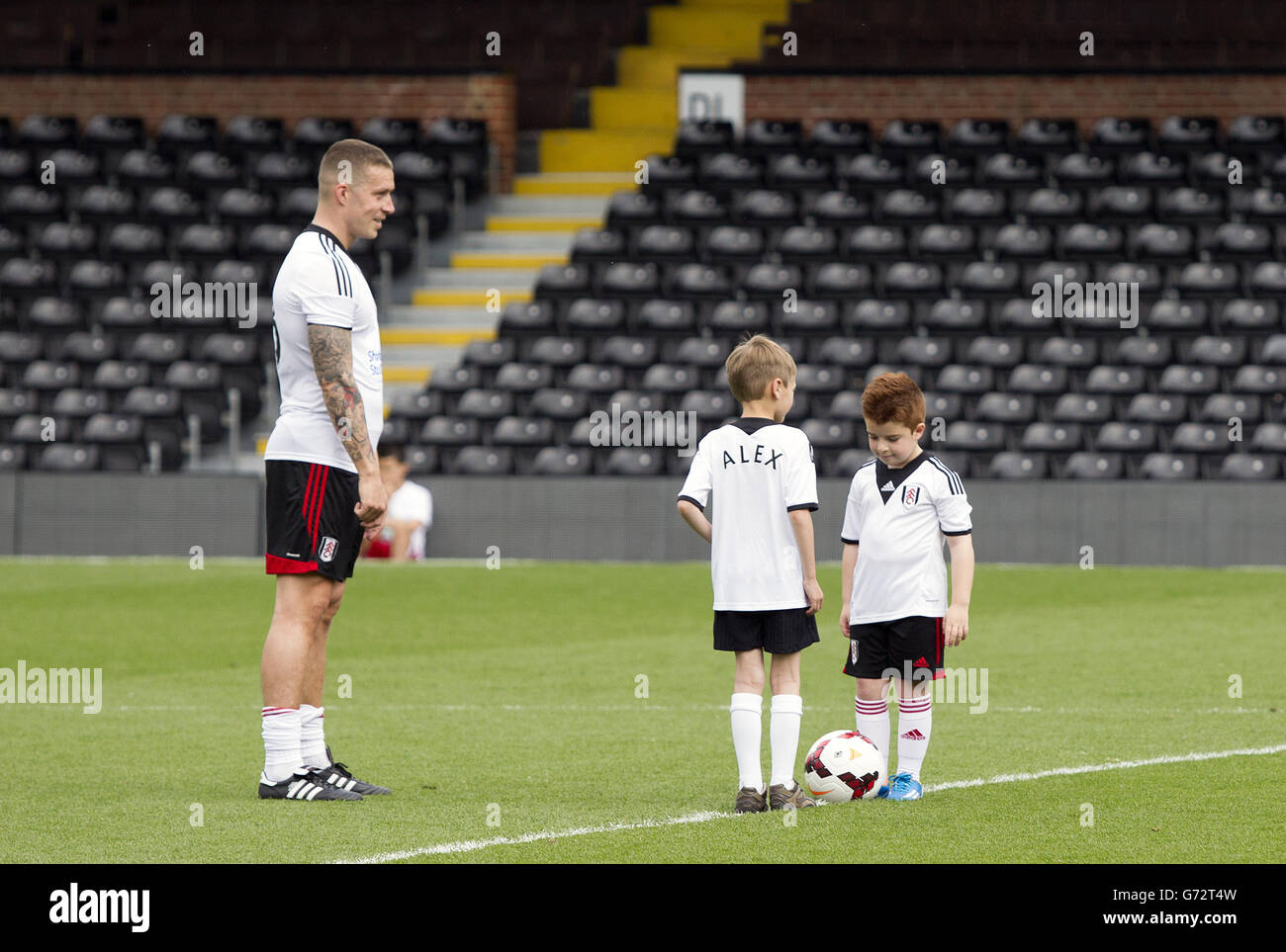 Soccer - Charity All Star Match - Fulham v Sealand - Craven Cottage - Stock Image