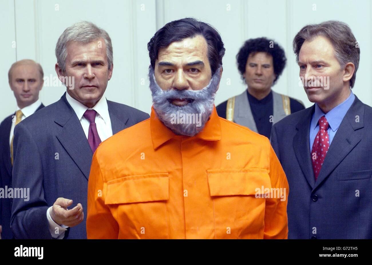 Saddam Hussein waxwork - Stock Image