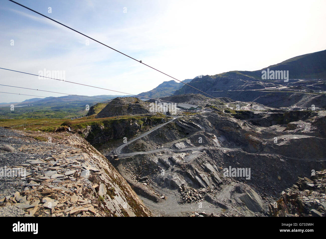 Zip World Titan Ride - Llechwedd Slate Caverns - Snowdonia - Stock Image
