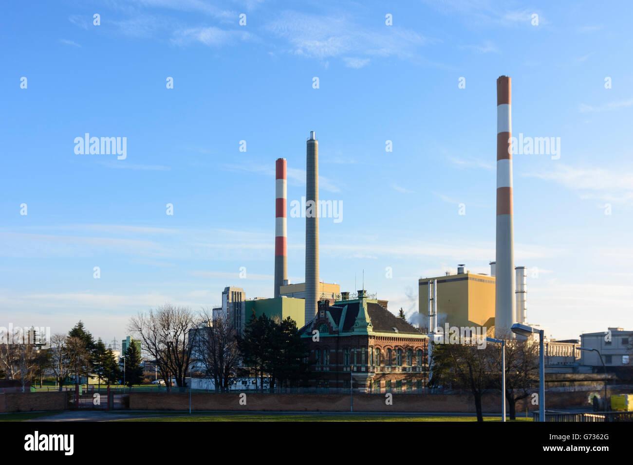 power station Simmering, Wien Energie, Wien, Vienna, Austria, Wien, 11. - Stock Image