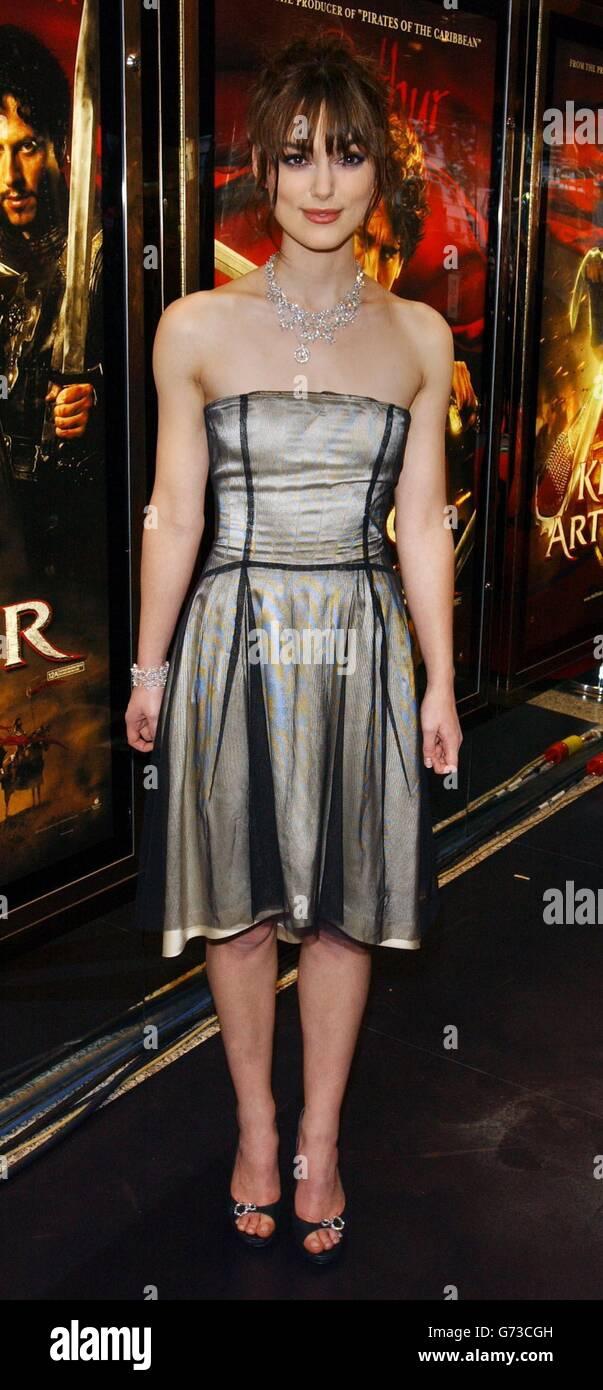 Keira Knightley King Arthur premiere - Stock Image