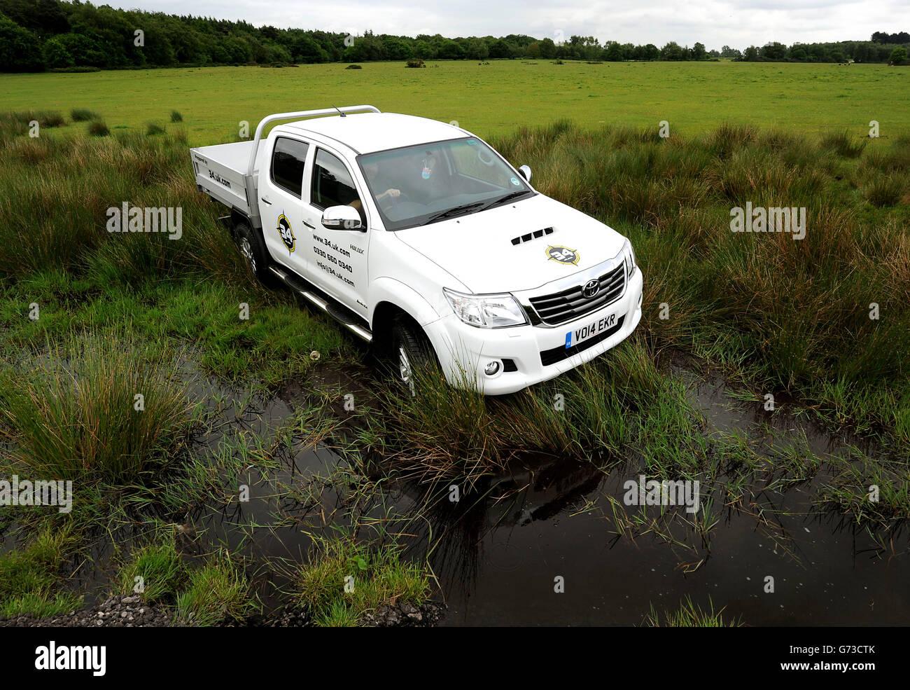Toyota Fleet handover to SG HLX Stock Photo