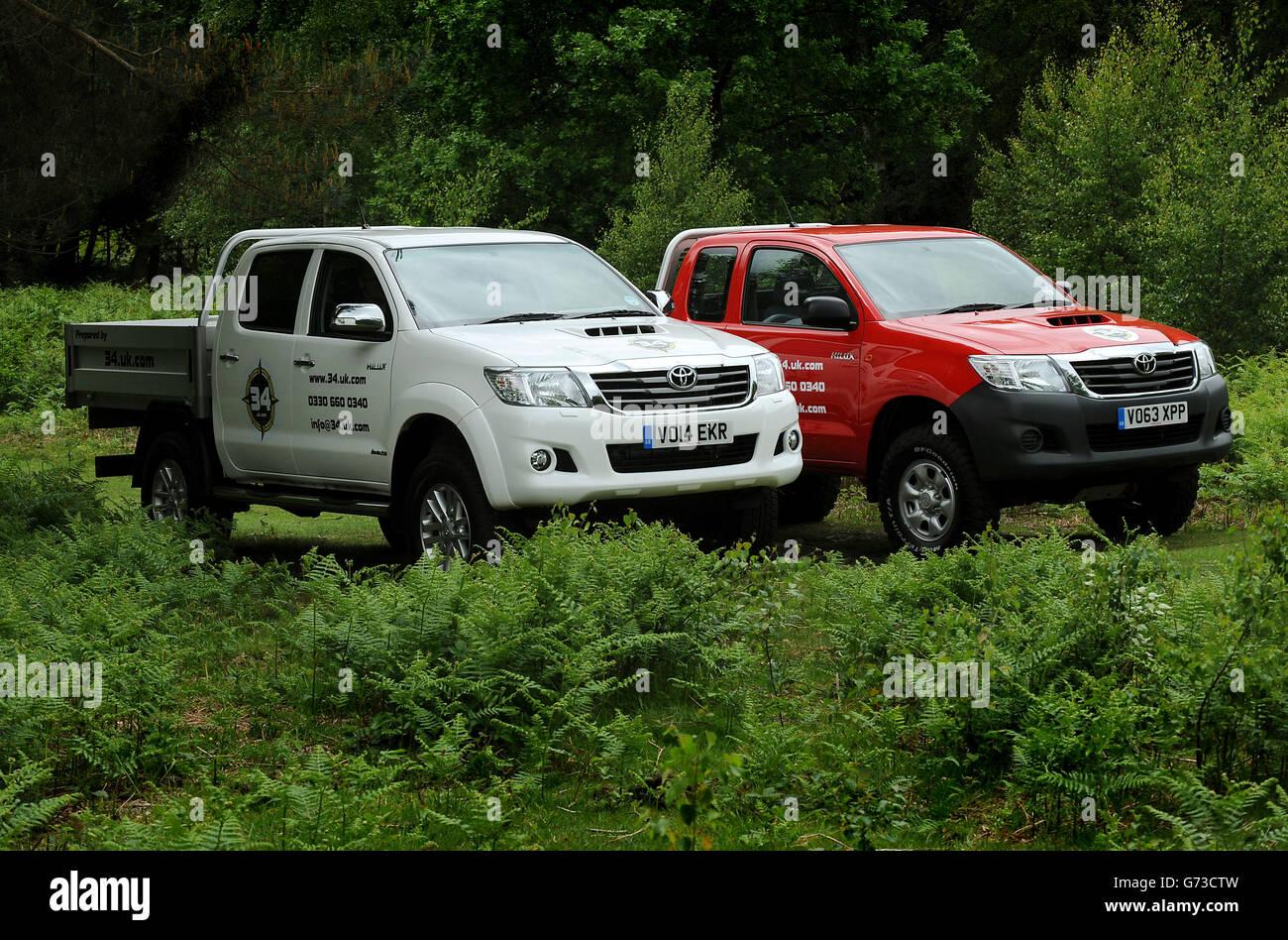 Toyota Fleet handover to SG HLX - Stock Image