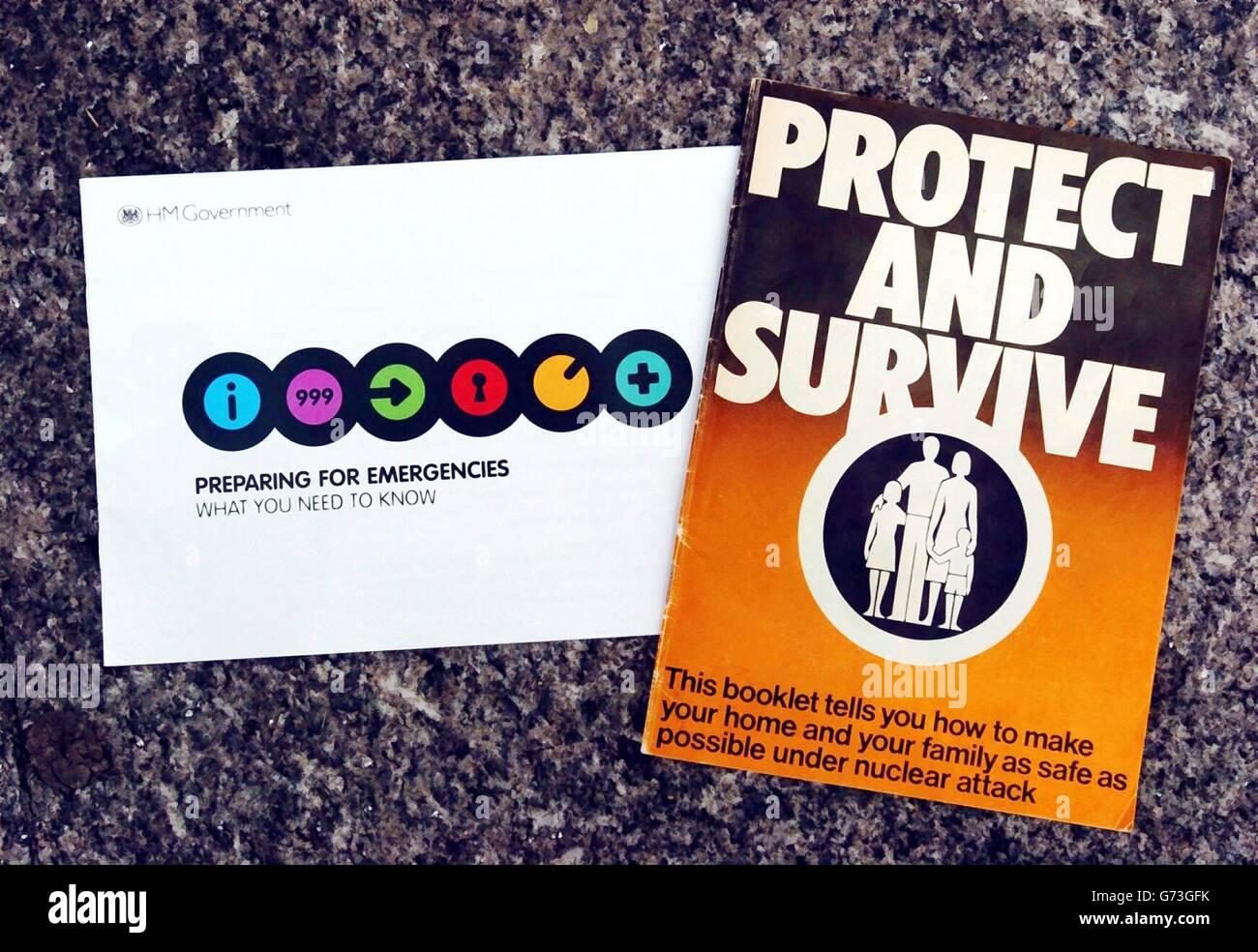 Preparing for Emergencies UK HM Government 2004 booklet leaflet