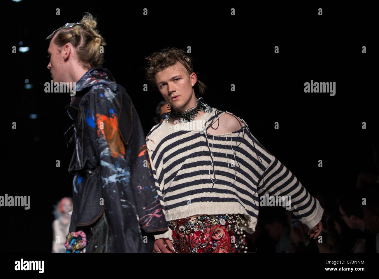 10th June 2016, London. Charles Jeffrey Loverly shows his designs as part of the MAN catwalk show  ©Chris Yates/ - Stock Image