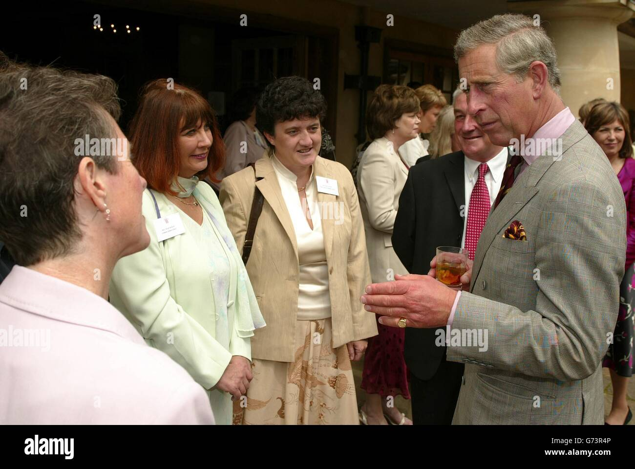 The Prince of Wales speaks to headteachers Stock Photo