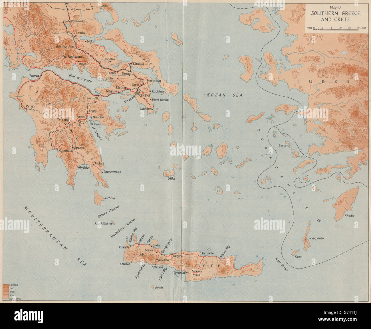Operation marita 1941 southern greece and crete world war 2 1956 southern greece and crete world war 2 1956 old map gumiabroncs Gallery