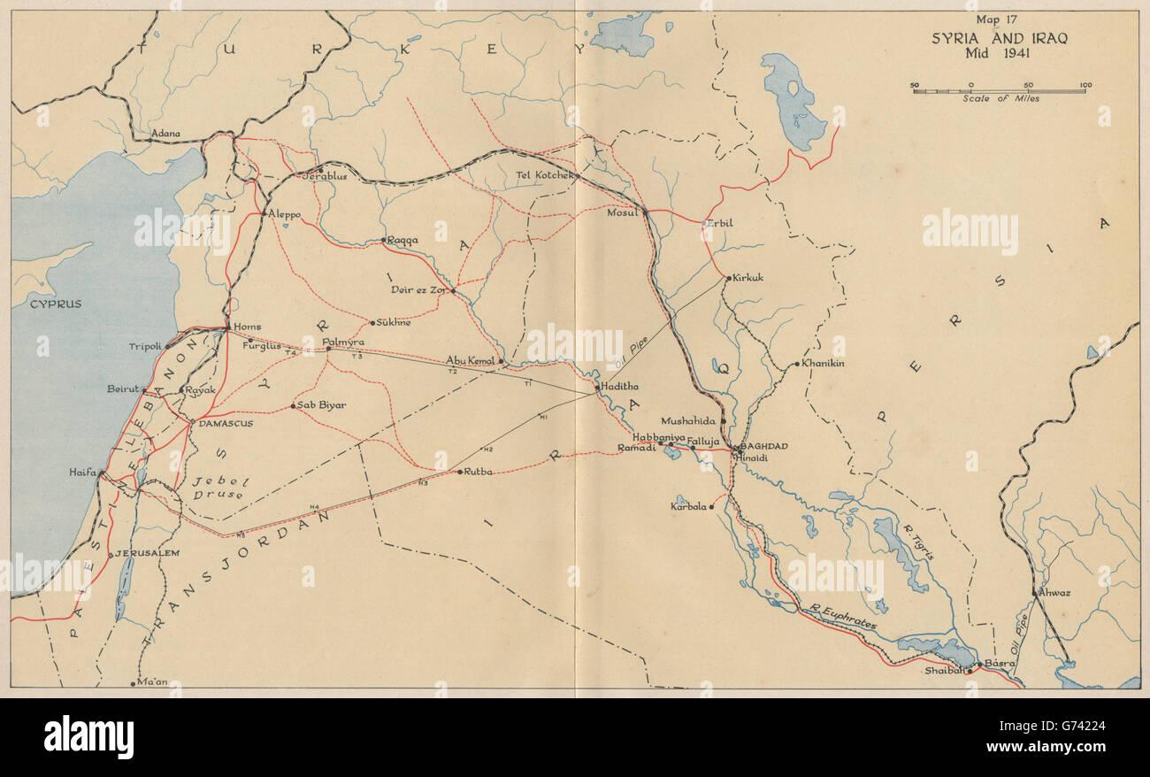 ANGLO-IRAQI WAR 1941. Syria and Iraq, mid 1941. World War 2 ...