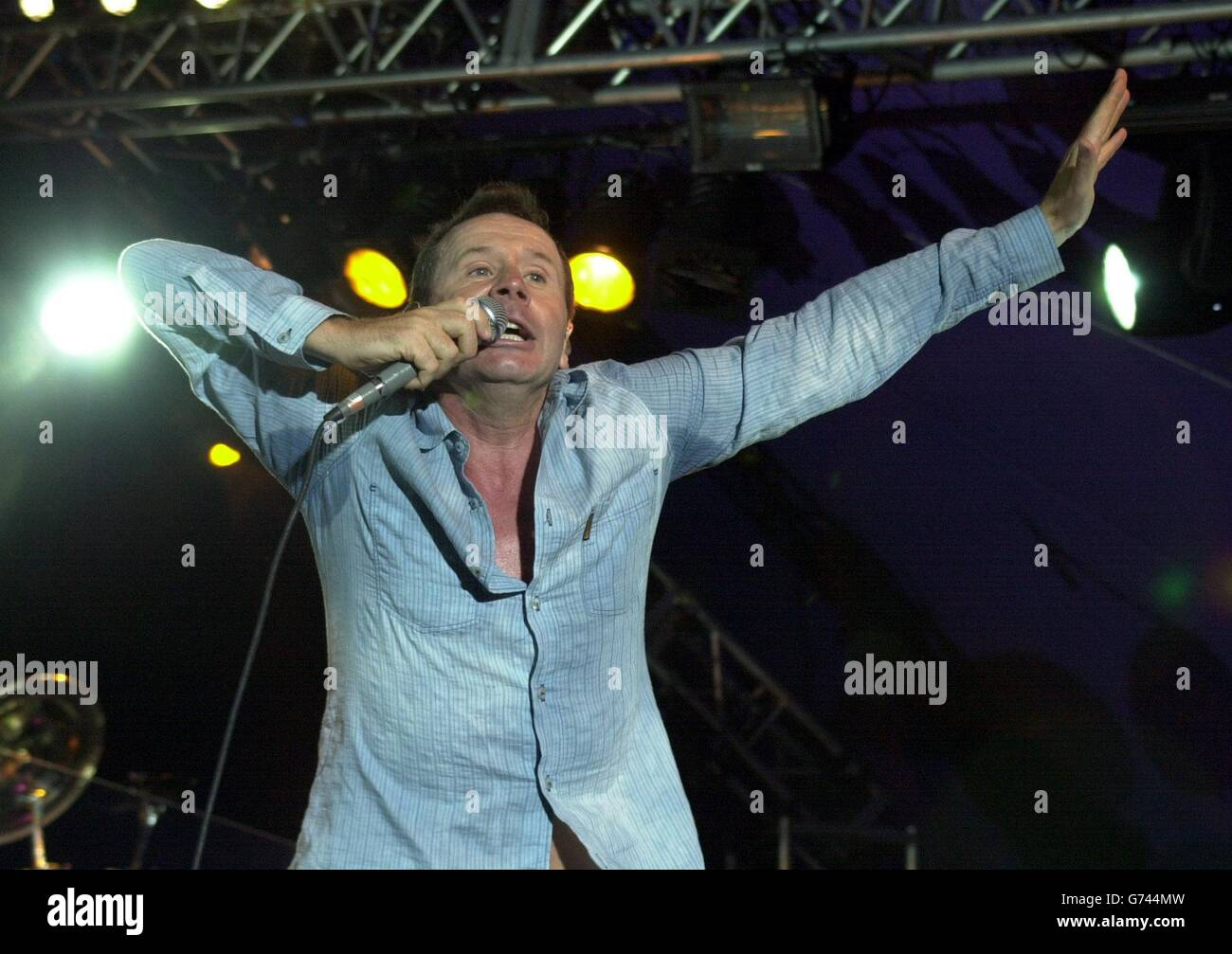 Jim Kerr during the Guilfest - Stock Image