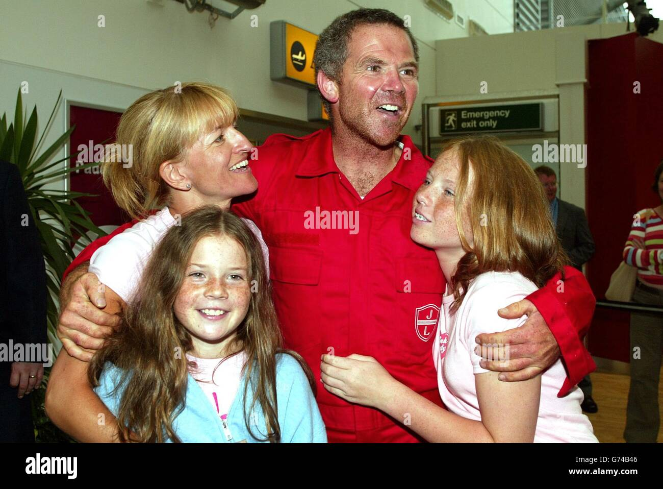 Mark Stubbs is reunited with family - Stock Image