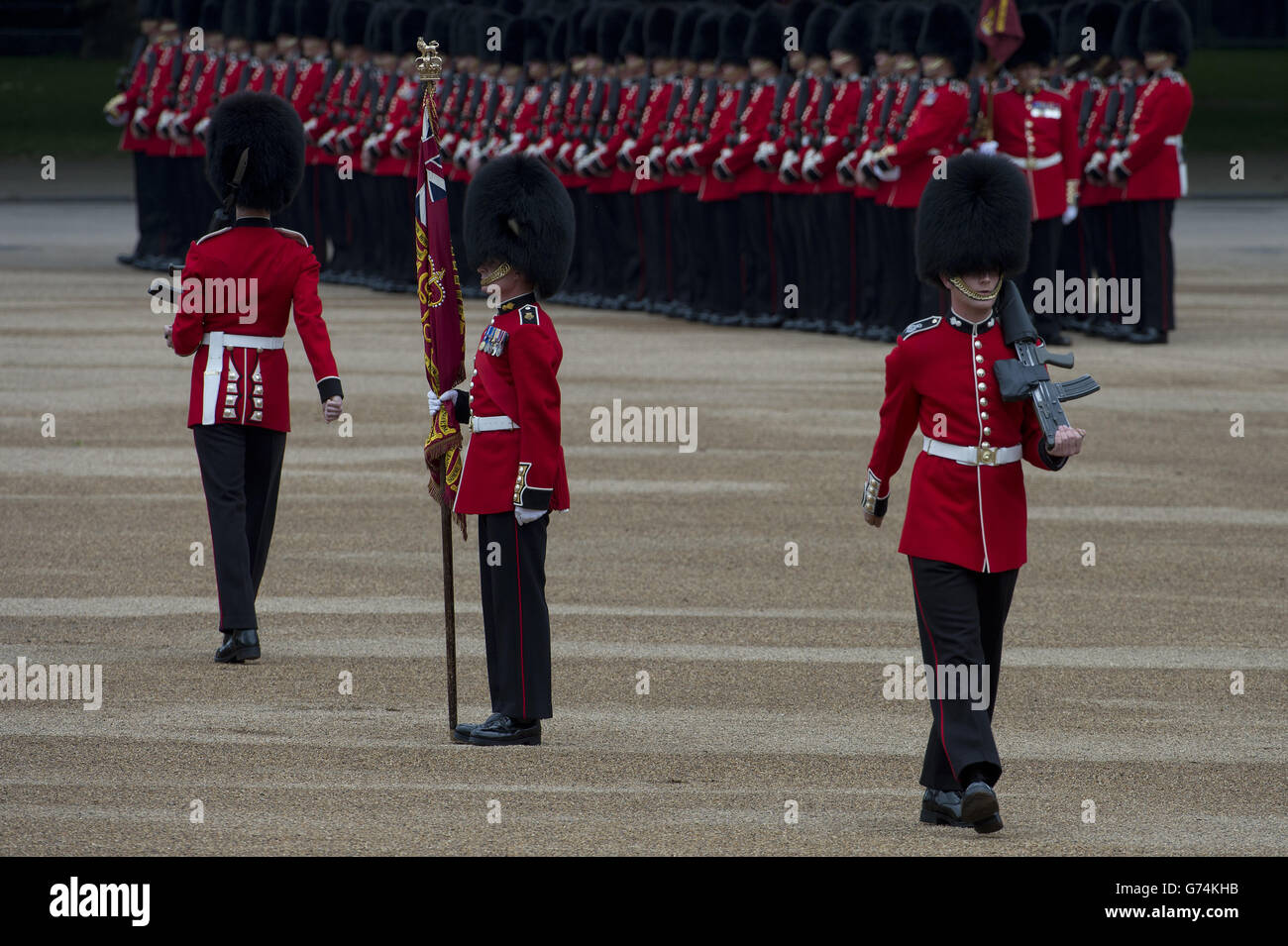 Trooping the Colour parade Stock Photo