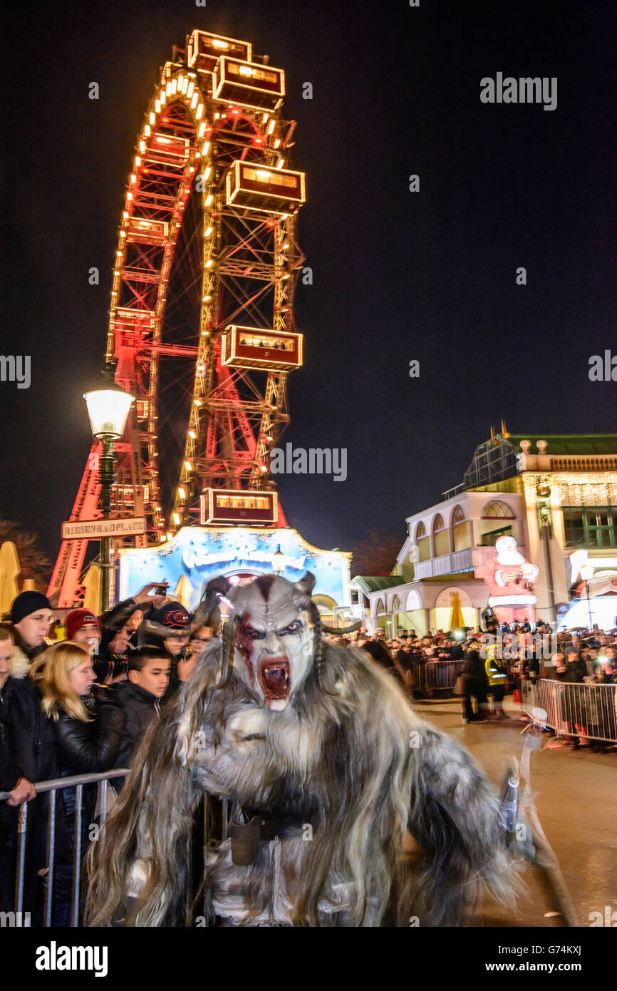 Mask Procession Perchtenlauf Figur Krampus Ferris Wheel Prater