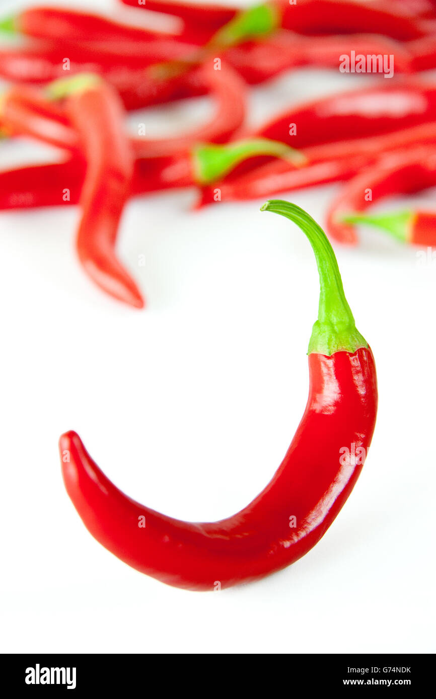 Red hot chili pepper - Stock Image