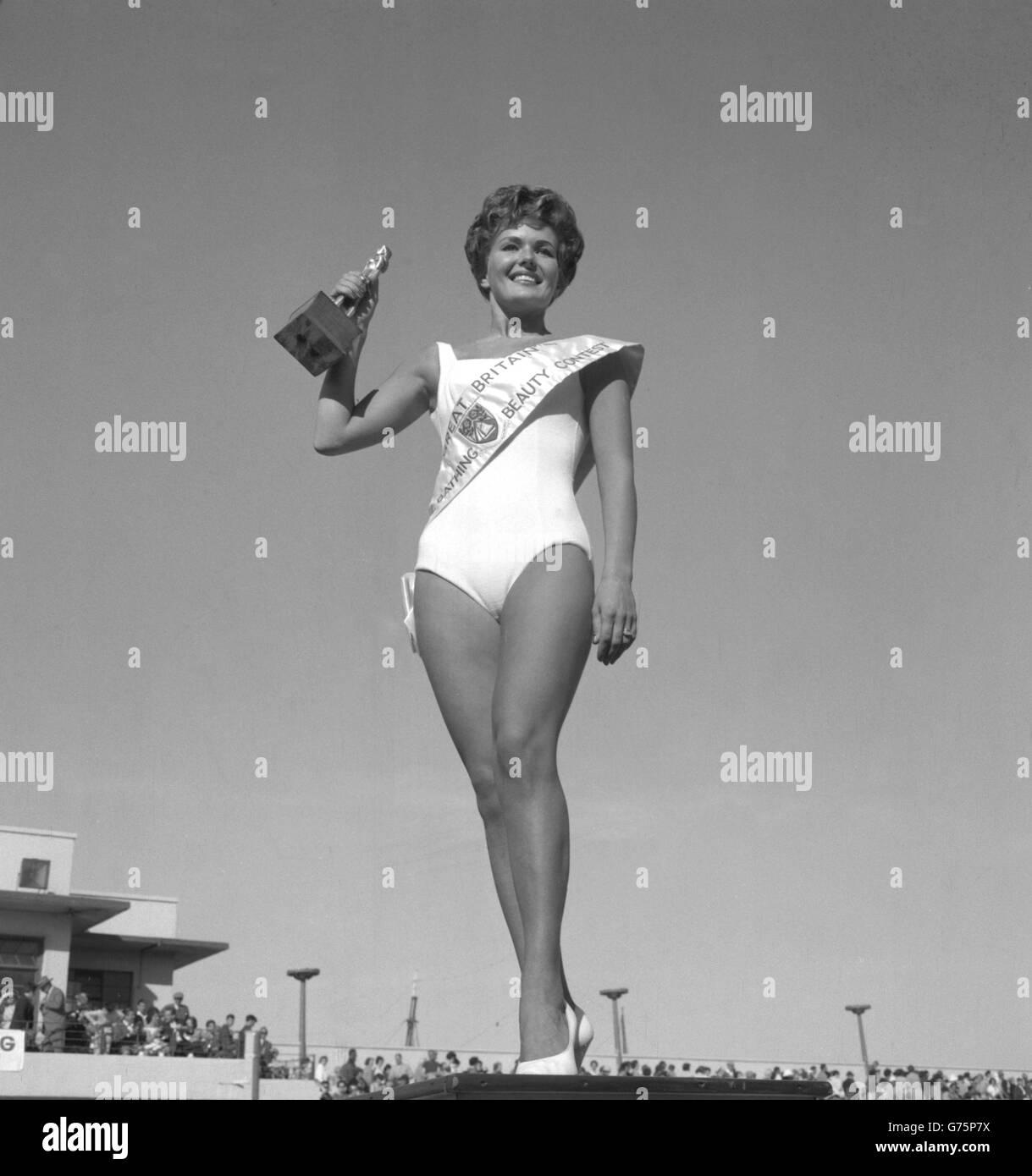 ac2f7cda27277 Fashion and Beauty - Miss Great Britain - Joy Black - Morecambe - Stock  Image