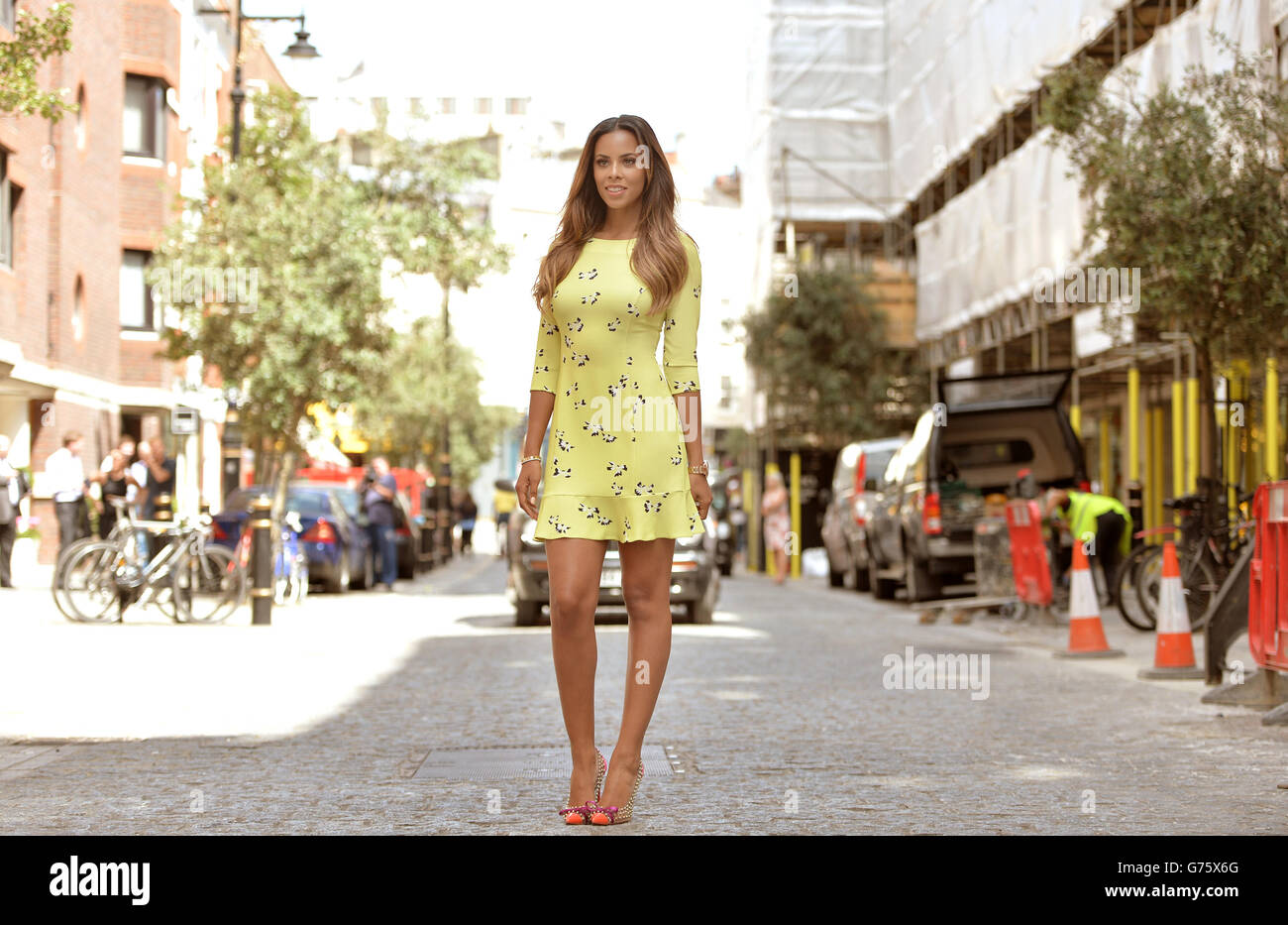 Rochelle Humes fashion collection - Stock Image