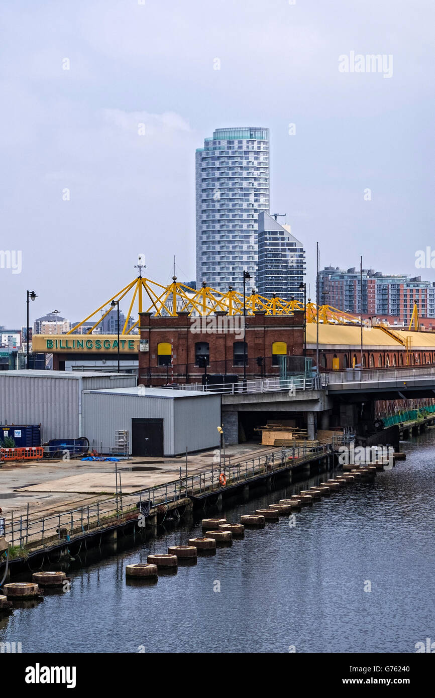 Billingsgate Fish Market, located in East London, is the United Kingdom's largest inland fish market. Isle of - Stock Image