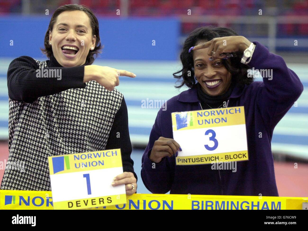 Gail Devers and Pintusevich-Block - Stock Image
