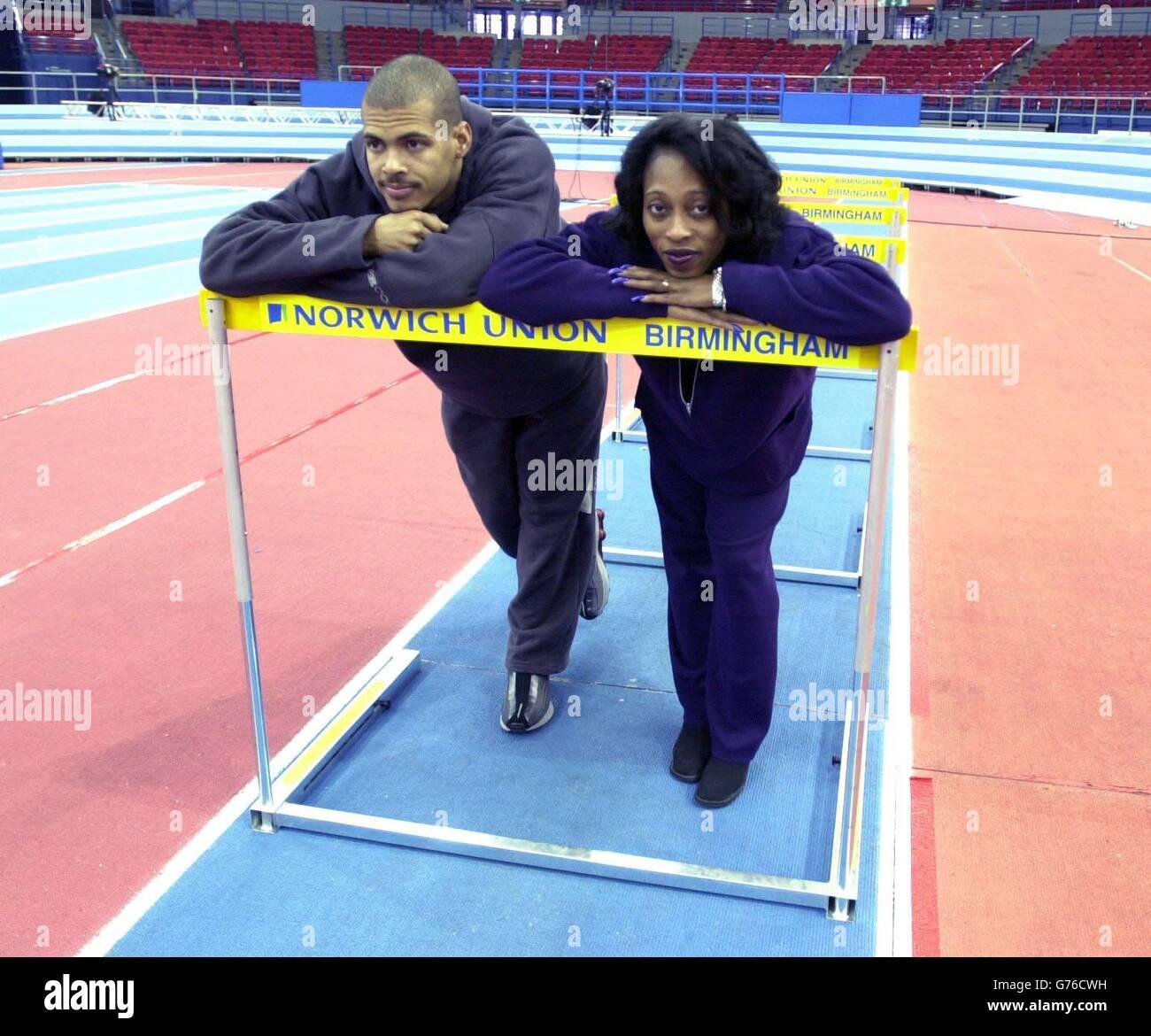 Felix Sanchez and Gail Devers - Stock Image