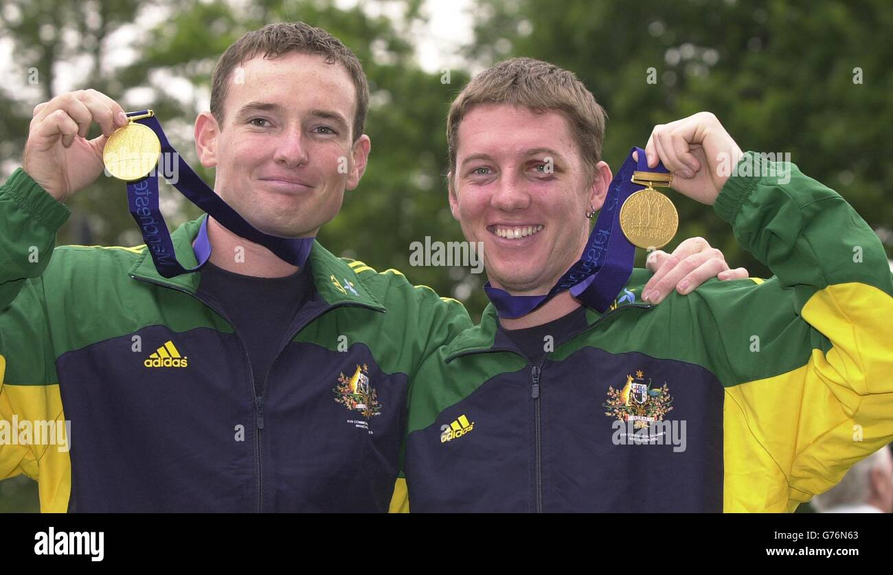 Shooting - Australian Gold Medalist Tim Lowndes & Sam Wieland Stock Photo