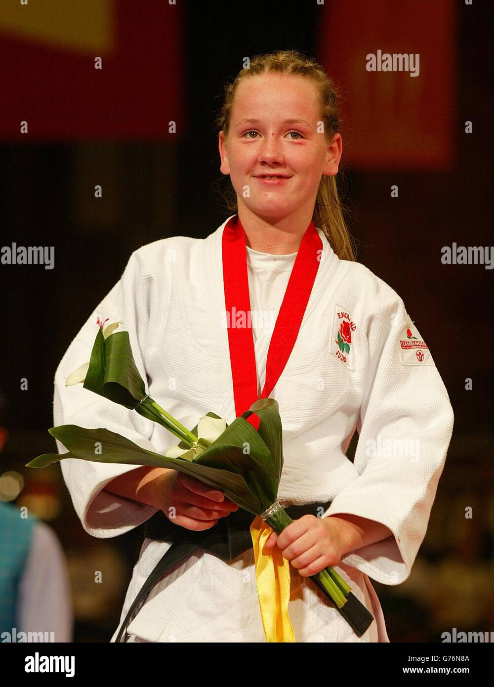 Womens 48kg Judo - England Silver medalist Clare Lynch - Stock Image