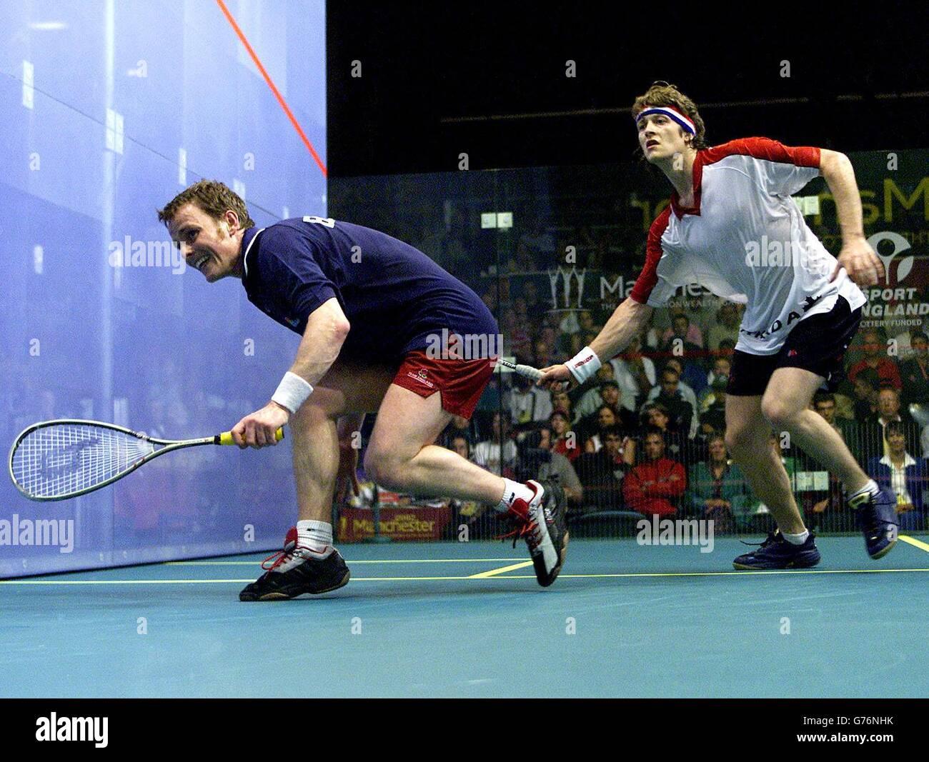 Mens Squash Singles final - England's Peter Nicol (left) - Stock Image