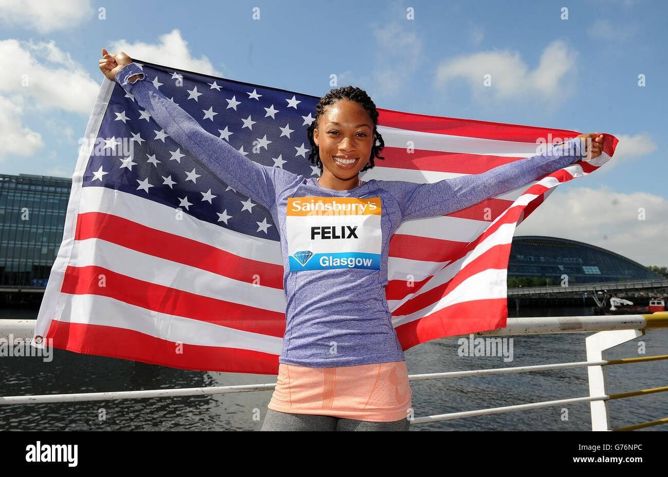 Athletics - IAAF Diamond League - Allyson Felix and Jodie Williams Press Conference - Crowne Plaza - Stock Image