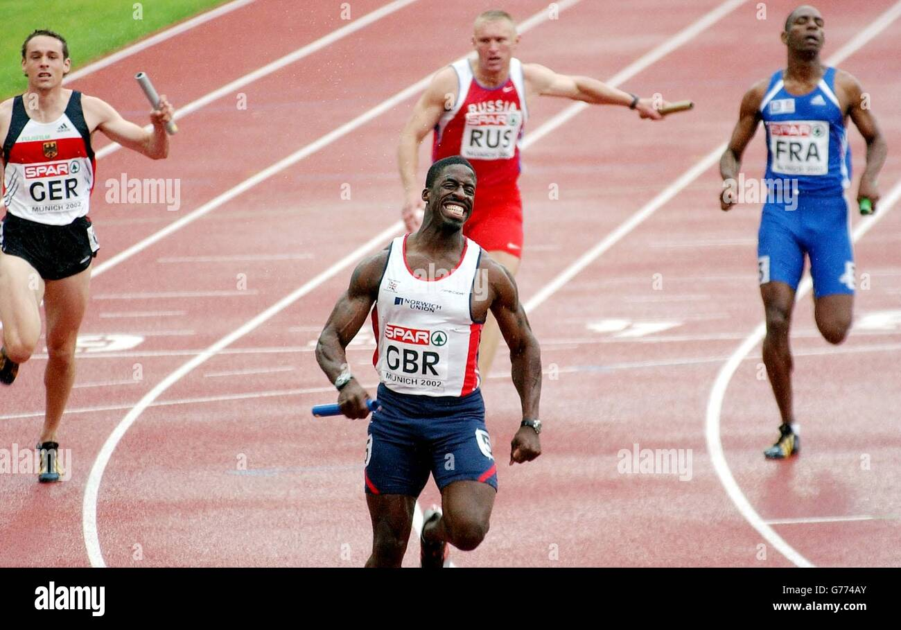 Dwain Chambers - 4x100m relay - Stock Image