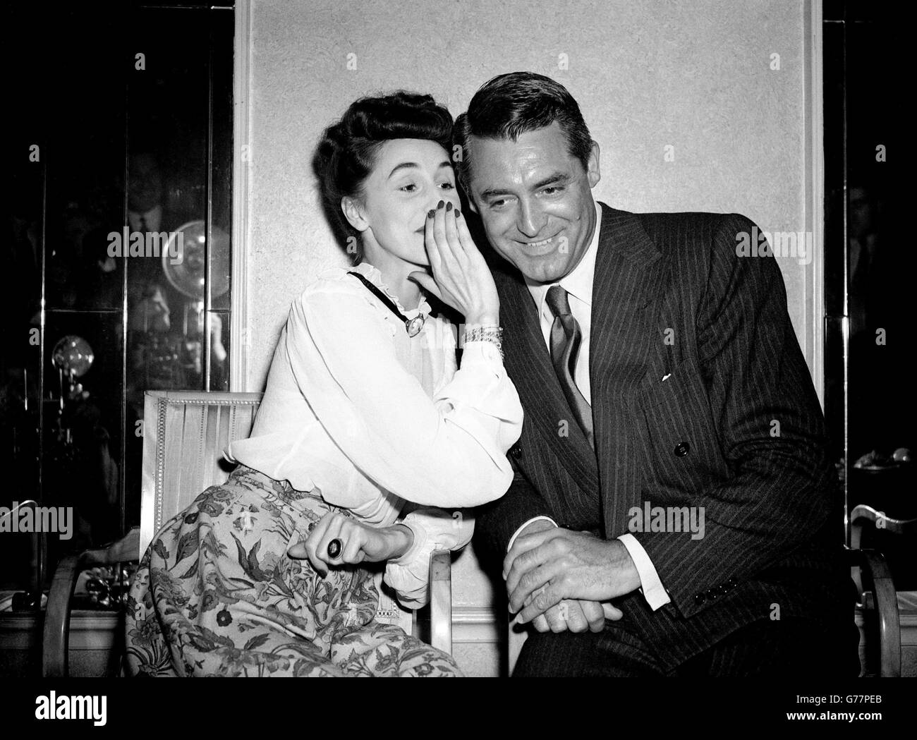 Film - Cary Grant and Mary Stone - Dorchester Hotel, London - Stock Image