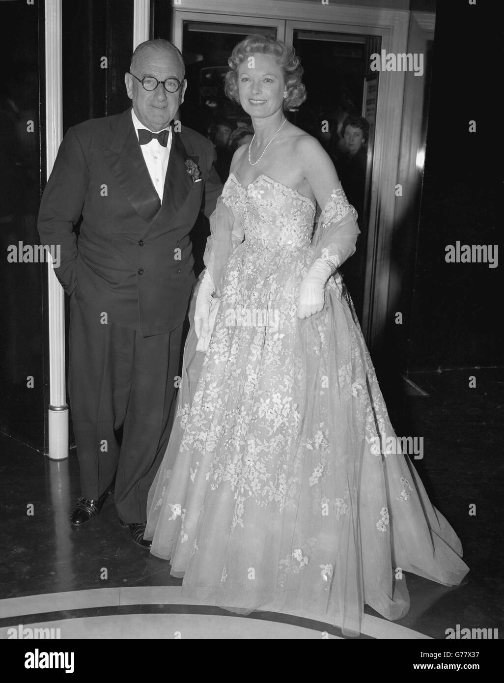 Entertainment - Talk Of The Town - Anna Neagle and Herbert Wilcox - London - Stock Image