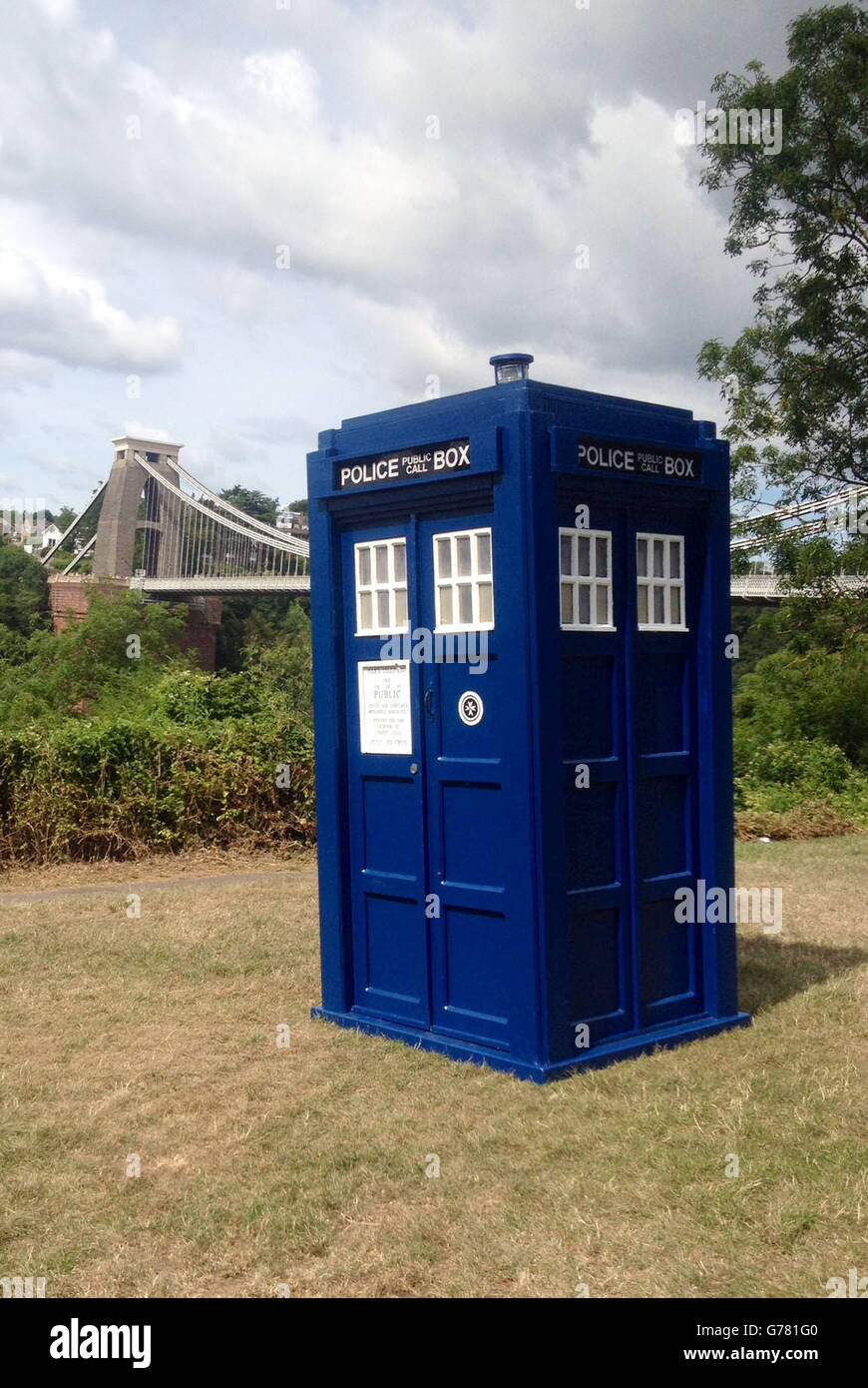 Charity Tardis - Stock Image