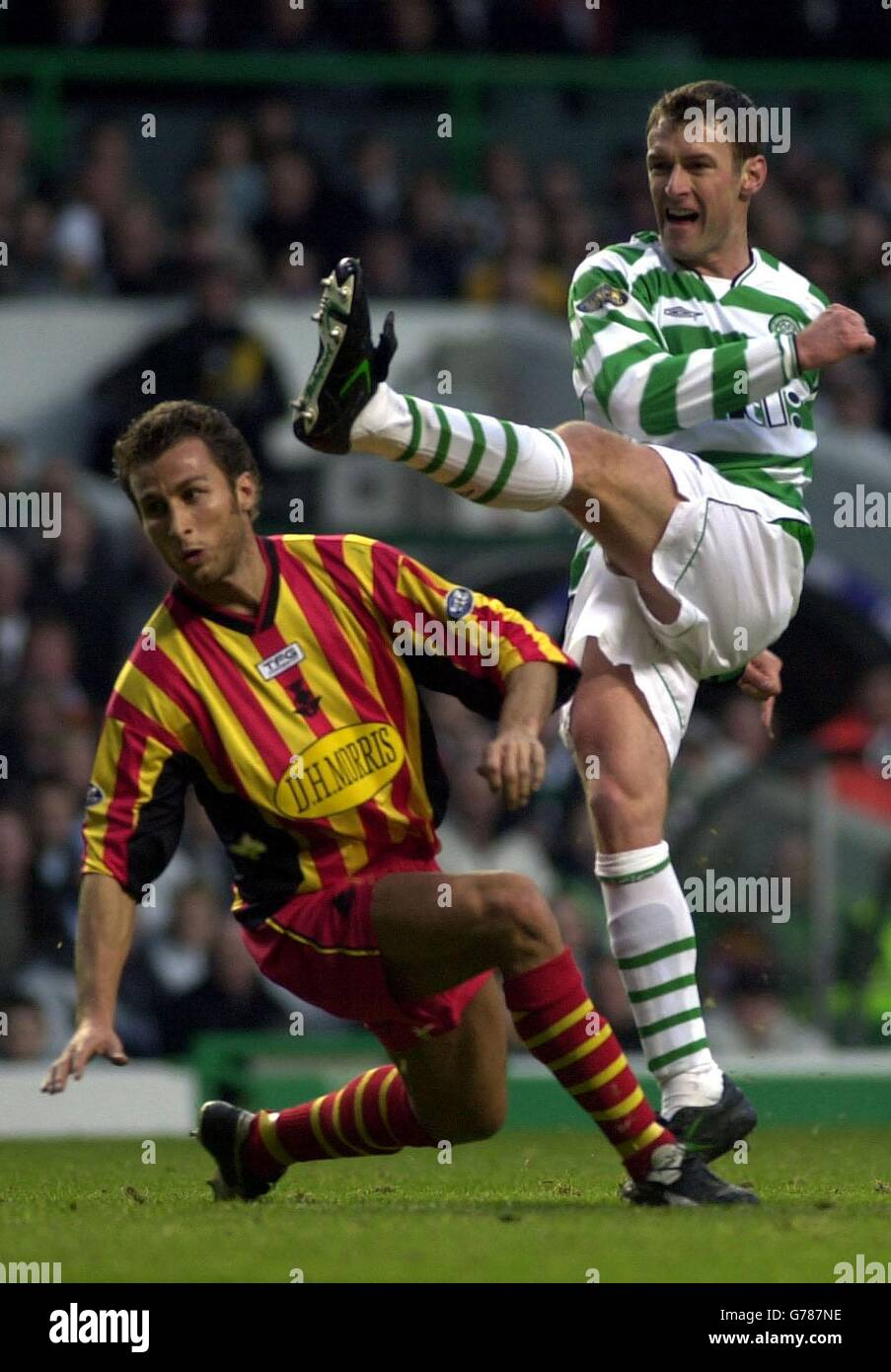 Celtic v Partick Stock Photo