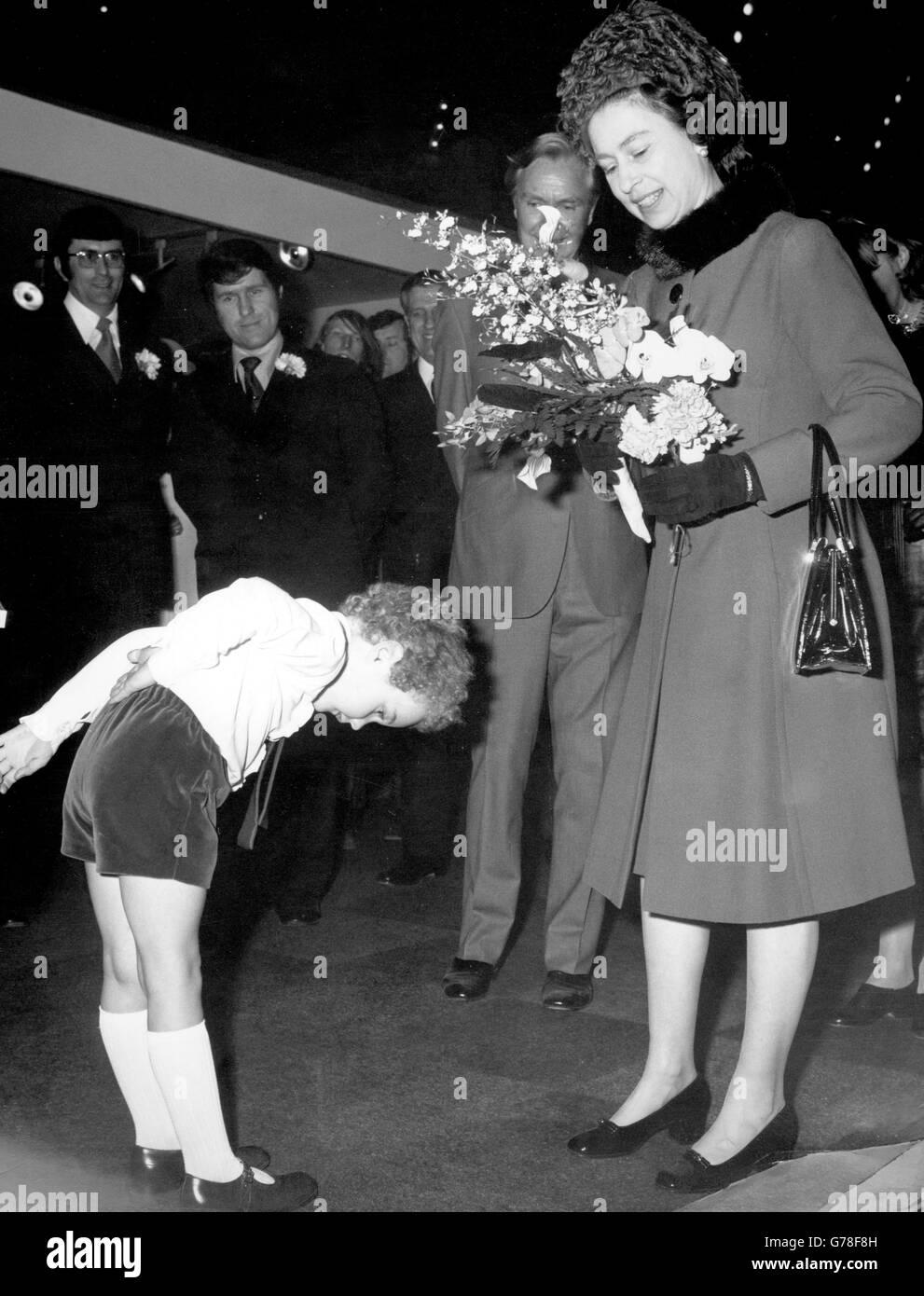 Royalty - Queen Elizabeth II - Olympia - Stock Image