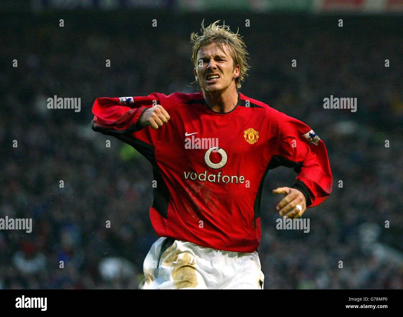 Sport Football Celebrating David Beckham Natpub Stock Photos