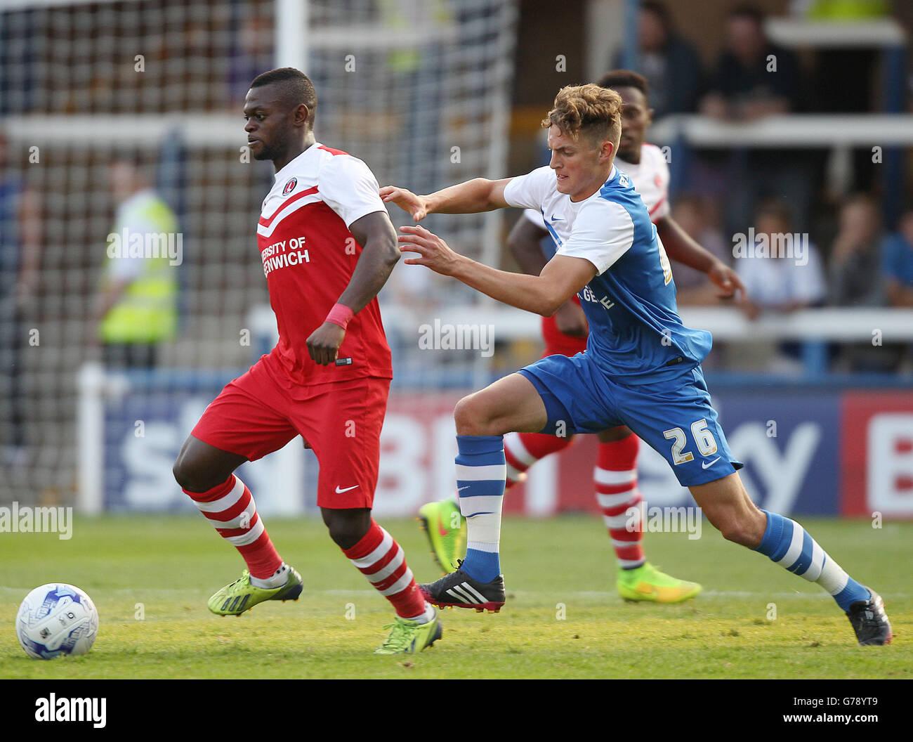 Soccer - Pre Season Friendly - Peterborough United v Charlton Athletic - London Road Stock Photo